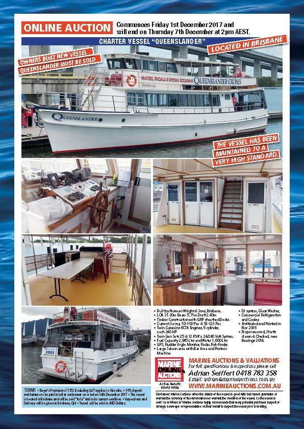 "CHARTER VESSEL ""QUEENSLANDER"" CURRENT CERTIFICATE OF OPERATION #boatsforsale"