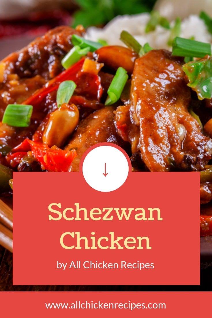 Szechuan Chicken Best Szechuan Chicken Chinese Takeout Recipe Szechuan Chicken Chicken Lunch Recipes Chicken
