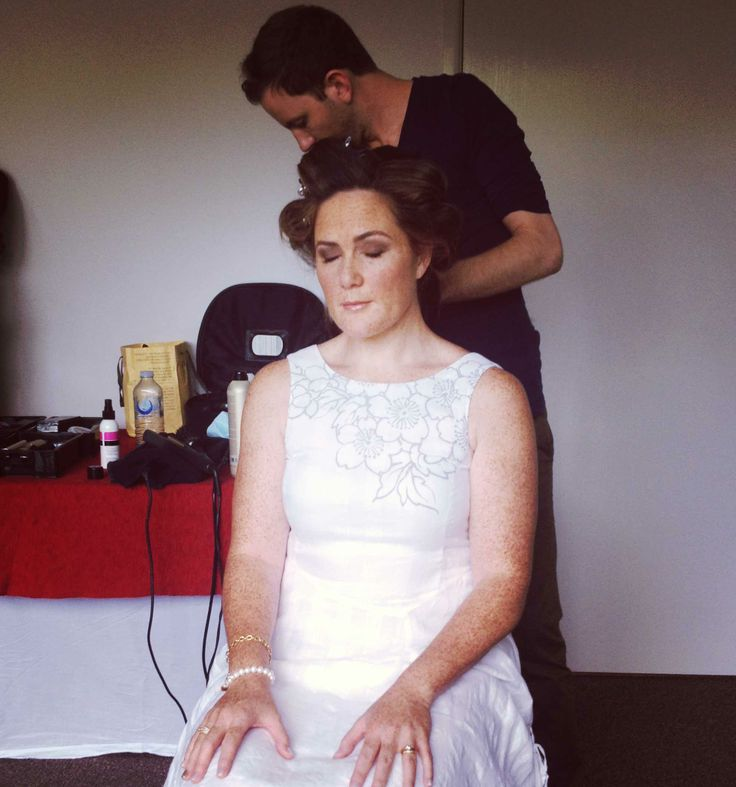Donna waiting for her curls to set!
