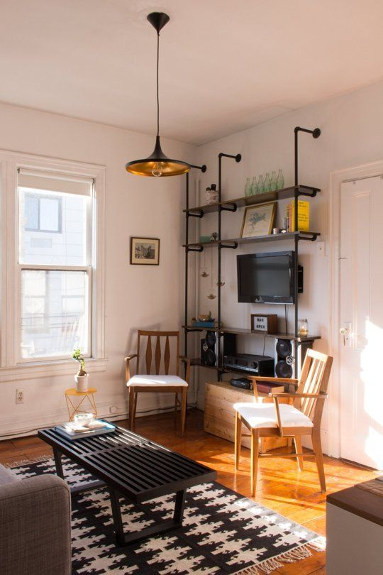 One of my favorite AT house tours.  Taylor & Alana's Carefully Crafted Hoboken Apartment — House Tour | Apartment Therapy