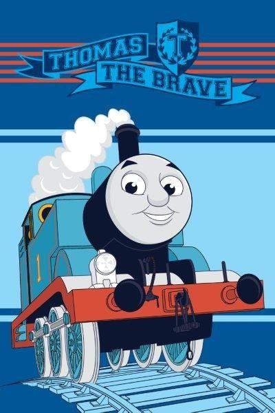 Thomas The Brave Ręczniki niebieskie dla dzieci z postaciami z bajek
