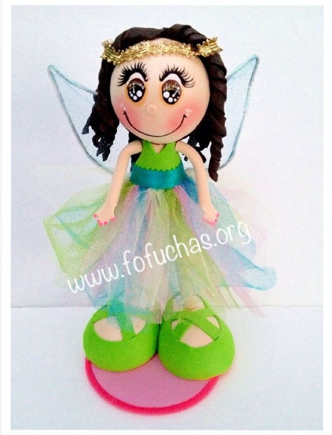 Rainbow is a Fairie  fofucha doll. Stands at 12 inches. Handmade using foam sheets.Perfect collecting doll for A fairie fan. She can also be used as a centerpiece at your child's Fairy theme party. Or even as a caketopper. I can make other Colors or personalized. Like us on facebook.com/fofuchashandmadedolls #fairy. #fairie #fofuchas #foamdoll