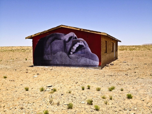 The painted dessert project - Jetsonorama: Houses June, Paintings Desserts, Step On Jr 27S Houses 2 Jpg, Graffitistreet Art, Rs Houses, Desert Projects, Brooklyn Street, Desert America, Paintings Desert