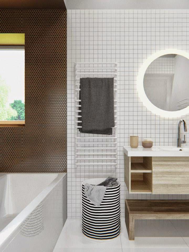 Nhóm kiến trúc sư và nhà thiết kế INT2architecture đến từ Nga, tạo dấu ấn riêng bằng sự tỉ mỉ và sáng tạo lạ kỳ. Cùng lượm lặt những ý tưởng hay về thiết kế phòng tắm đẹp cho ngôi nhà hiện đại.