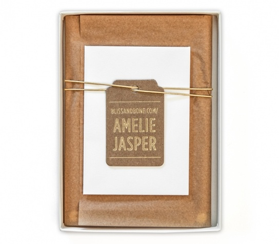 Invitation Suite / Kraft Tissue Paper / Kraft & Gold Foil Tag / Metallic Leather Cord / Wedding Invitation / Gold Foil / Acrylic Invitation / Modern / Botanicals / Live Preserved Fern / Boxed Invitation