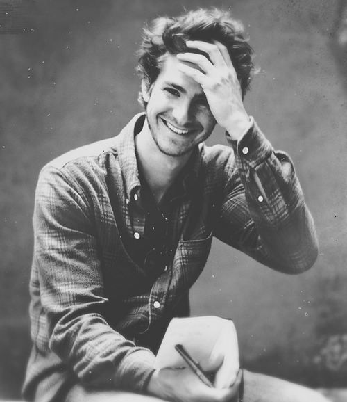 Andrew Garfield. He's adorable. He's perfect.