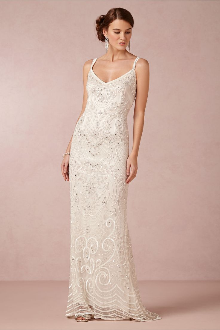 beach wedding dresses discounted wedding dresses Elsa Gown in Bride Wedding Dresses at BHLDN nspired by the opulent glamour of the