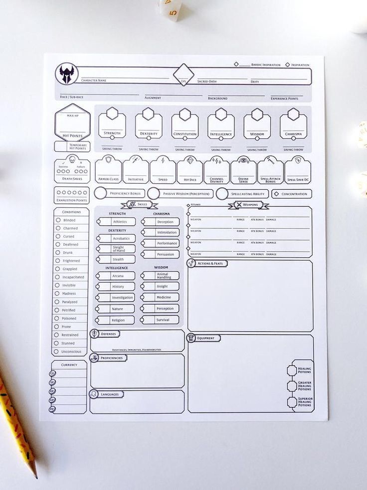 Pin on Dnd character sheet
