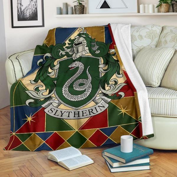 Slytherin Fleece Blanket Harry Potter Fleece Blanket House Decor Sofa Blanket