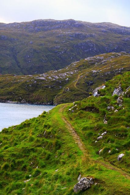 The Postman's route from Talbert to Rhenigidale, on the Isle of Harris, Scotland