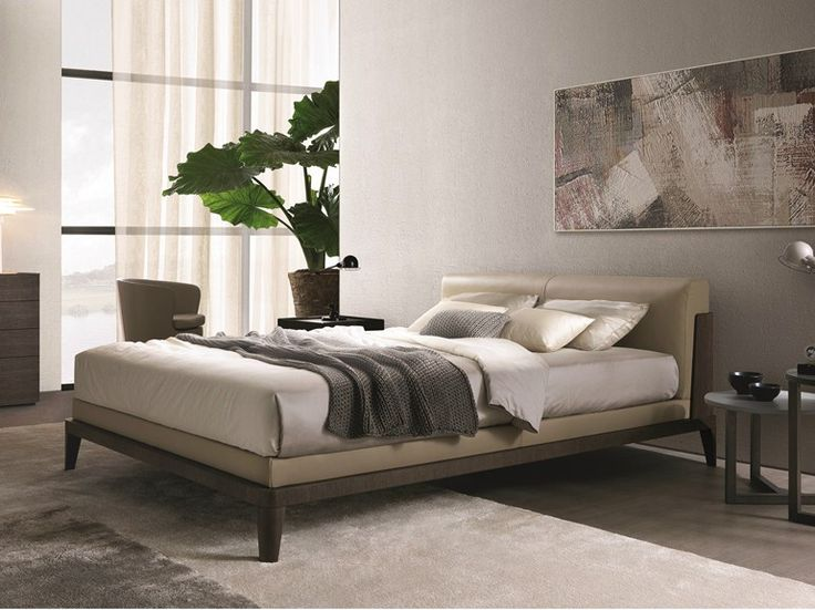 ... bed by Misuraemme, upholstered leather double bed design Ferruccio
