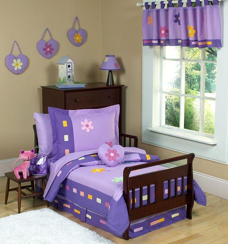Purple Daisies Comforter Toddler Bedding #kidsroomstore