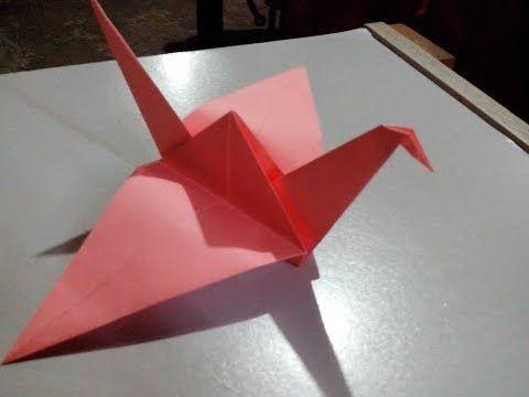 Origami Flapping Bird - Pájaro que mueve las alas - YouTube