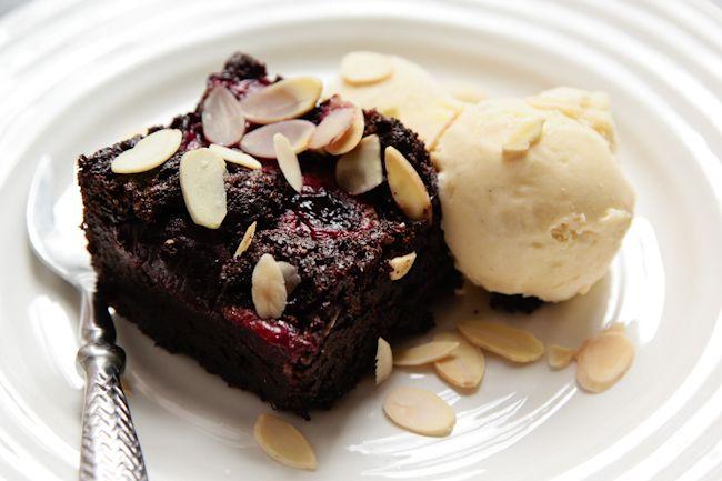 london bakes | flourless cherry and almond brownies {gluten free}
