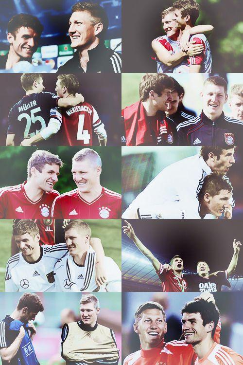 Bastian Schweinsteiger und Thomas Müller - FC Bayern and the German NT