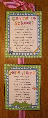 Grab these FREEBIE Hello/Goodbye poems!  {Bright Dots & Chevron patterns}