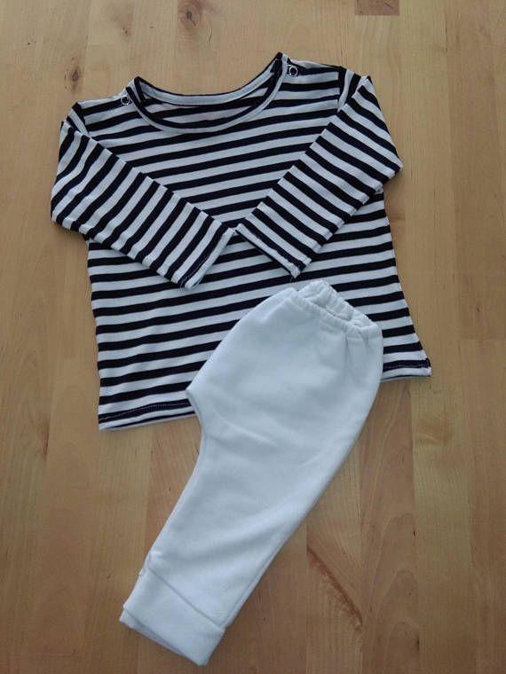 Camiseta de algodón elástico con estampado de rayas negras y