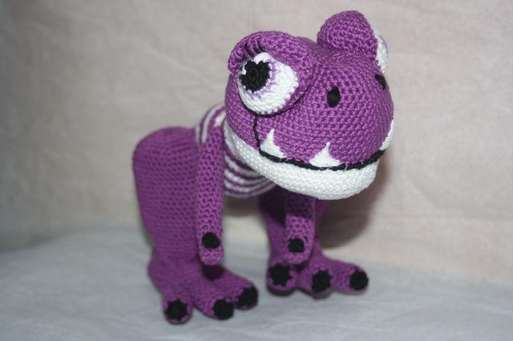 Doudou dinosaure au crochet en coton : Jeux, peluches, doudous par happyfil
