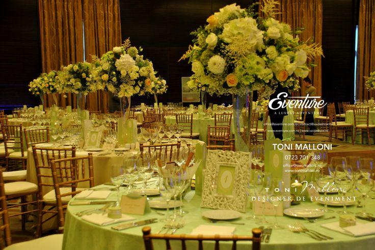 Centerpiece Wedding, Aranjamente Centrale Nunta by Eventure Co.  graphic designer T.Ina & event designer Toni Malloni  www.eventure.com.ro www.tonimalloni.ro www.bprint.ro www.eventurecentralstore.ro +40 723 701 348 office@eventure.com.ro