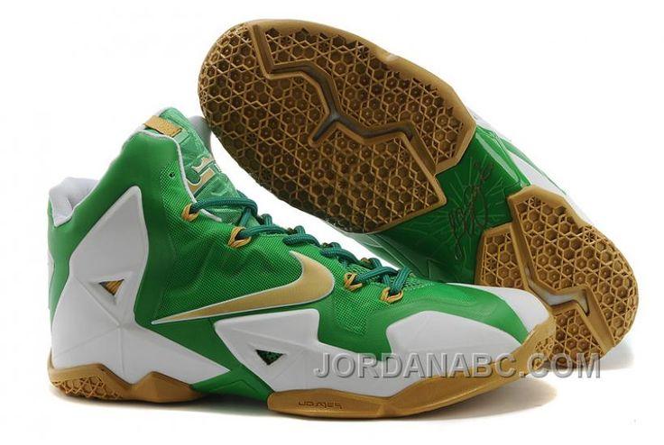 http://www.jordanabc.com/nike-lebron-11-greenwhitegold.html NIKE LEBRON 11 GREEN-WHITE-GOLD Only $89.00 , Free Shipping!
