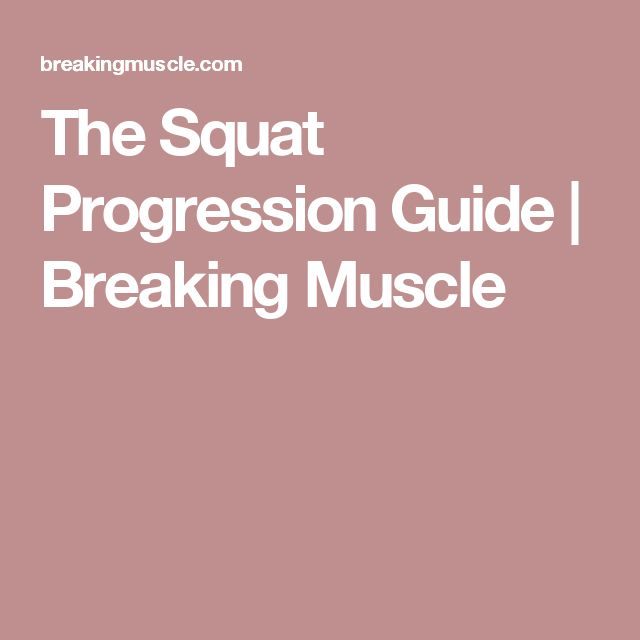 The Squat Progression Guide | Breaking Muscle