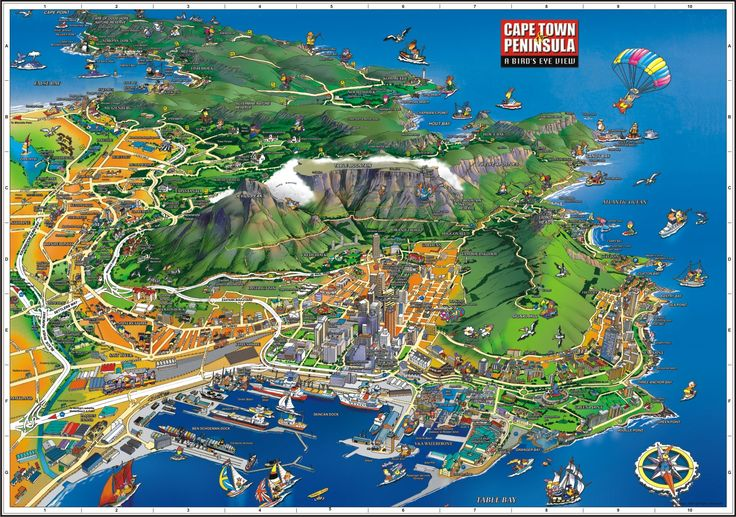 infographic of Cape Town- only 50 minutes from La Clé des Montagnes- 4 luxurious 5 star villas on a working wine farm in Franschhoek