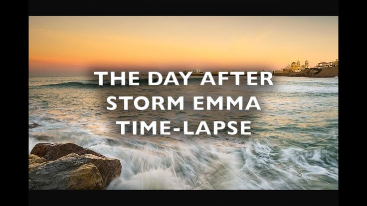 The Day After Storm Emma Cadiz Spain 4k/HD Royalty Free Footage