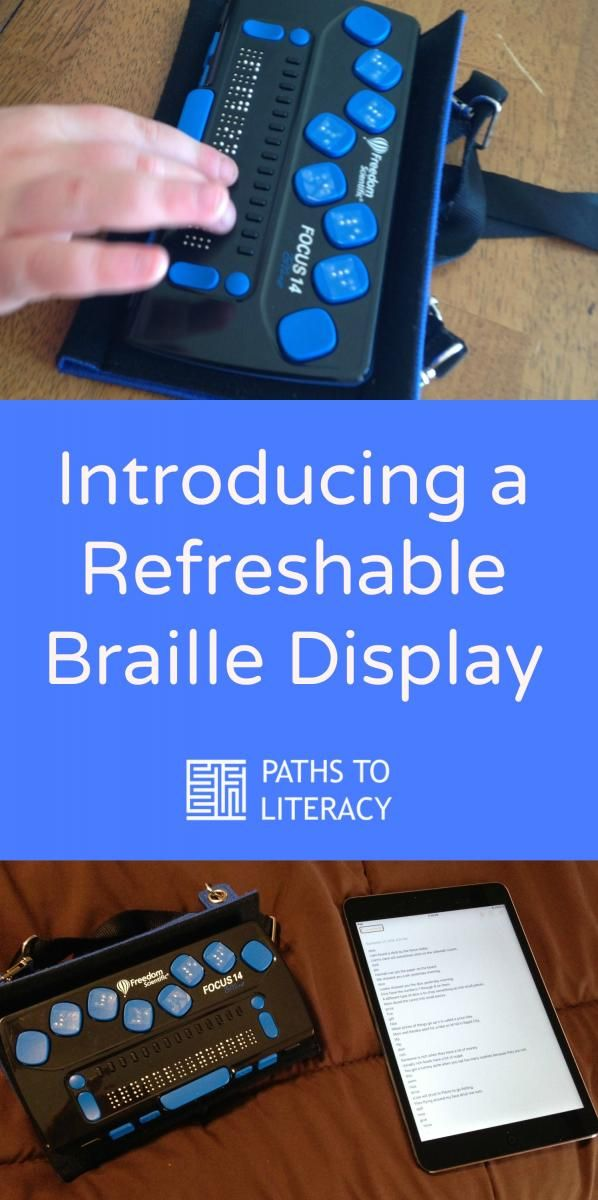 Introducing the Focus 14 refreshable braille display to a young child who is deafblind