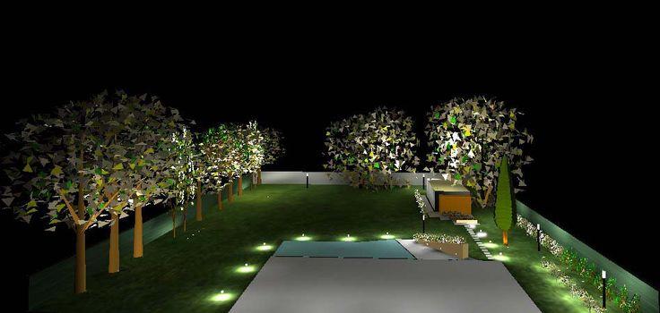 Diseño de iluminación para un parque en Farm Club realizado en Relux Professional