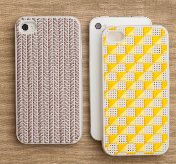 Needlepoint iPhone Cases - the purl bee  They don't make them for the iPhone5 yet, but when they do I think I will be buying one!