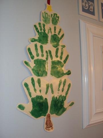 Family #handprint #Christmas tree