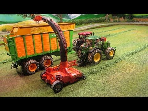 Exciting Vehicle | RC TRACTOR FARM ADVENTURES-power farming with hudge Forage Harvester tractor John-Deere, Case IH