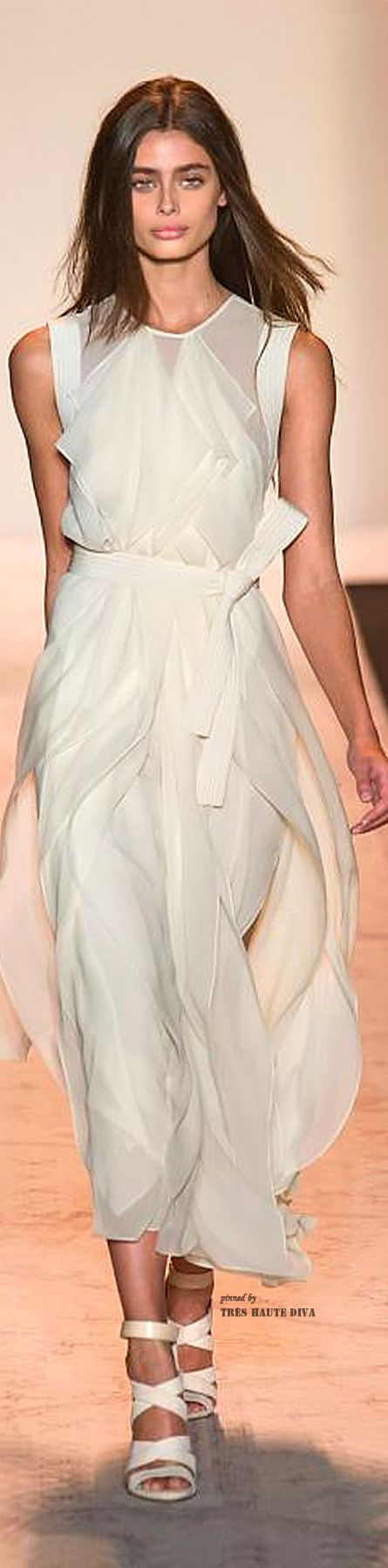 #NYFW BCBG Max Azria Spring 2015 RTW. A striking wedding dress for a certain type of woman in a certain type of more casual wedding, I think.