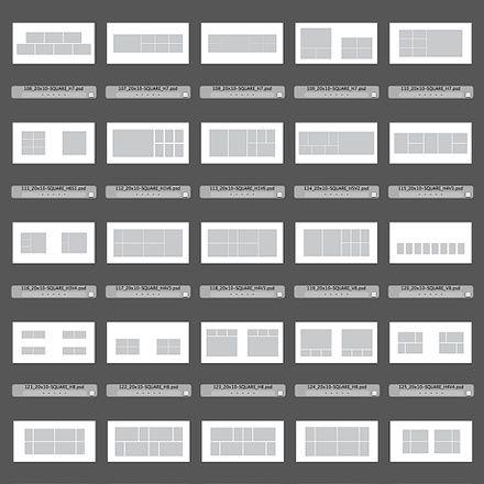 150 square album design templates for photoshop indesign for Blurb indesign template