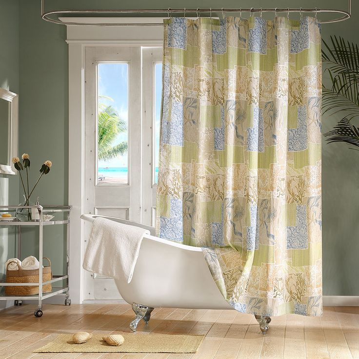 1000 ideas about fabric shower curtains on pinterest - Madison park bathroom accessories ...
