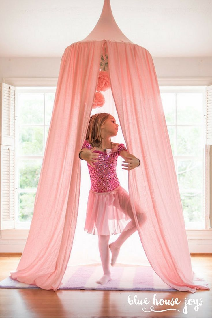 Kids playroom canopy - A Fun And Whimsical Play Tent For Your Little Princess To Dream About Their Next Adventure