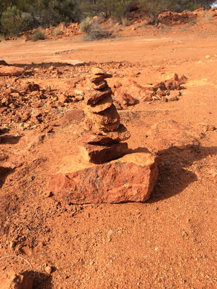 Rock stacking in the Goldfields