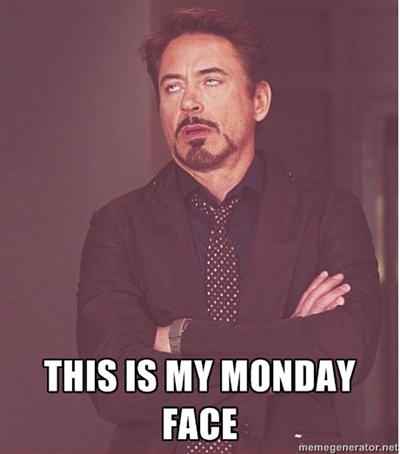 Robert Downey Junior face -  This is my Monday face