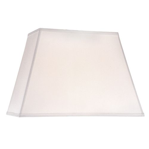 Design Classics Lighting White Linen Rectangle Lamp Shade  | DCL SH7285 PCW | Destination Lighting