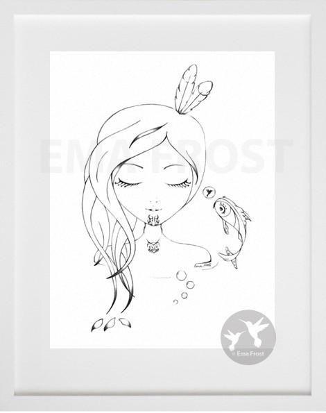 Sleeping Moana Hine (Graphite) - Ema Frost