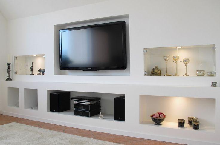 Les 25 meilleures id es de la cat gorie meuble tv placo - Meuble tv petit espace ...