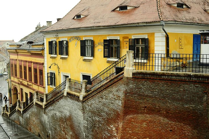 Near the bridge in Sibiu...