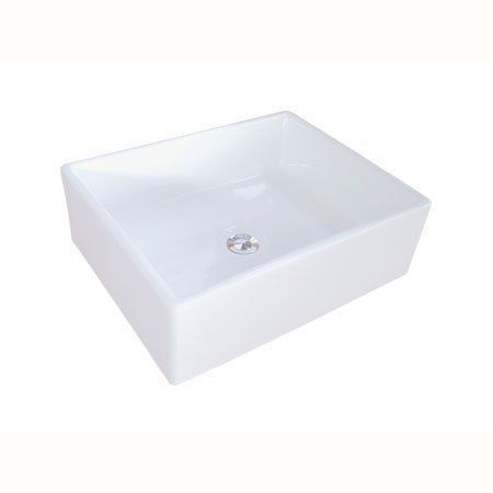 View The Kingston Brass Ev4158 Elements 18 11 16 Rectangular Vitreous China Vessel Sink Less