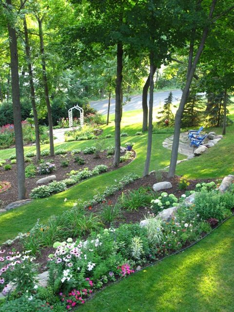 Garden Ideas On A Slope best 25+ hill garden ideas on pinterest | sloping garden, sloped