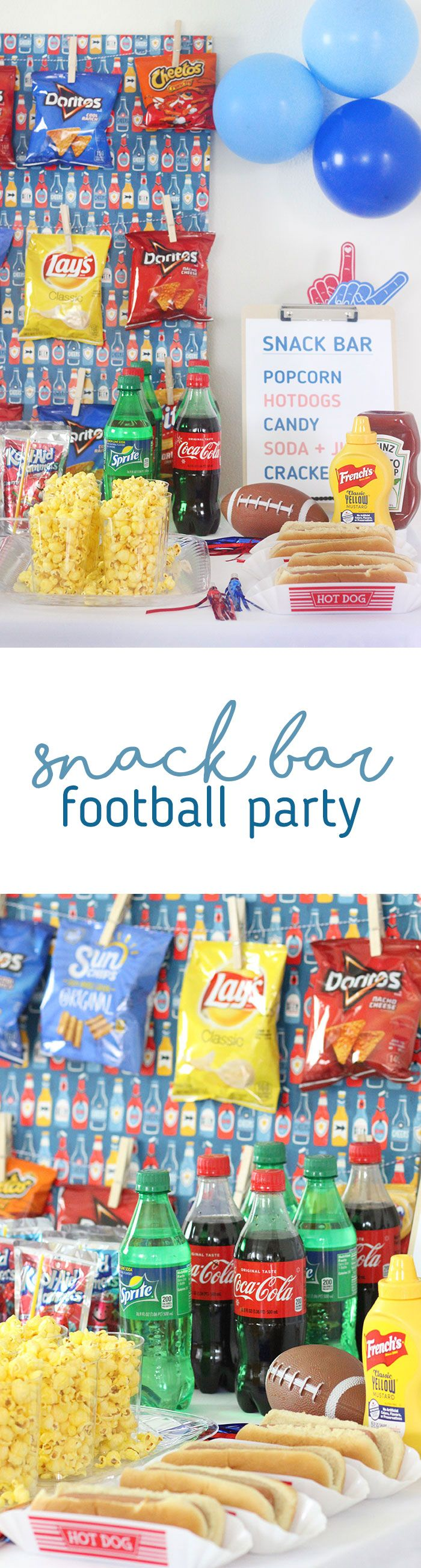 DIY Snack Bar for Football Parties. Get creative and save on your party spread at Family Dollar. #ad