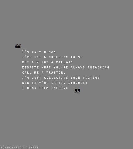 Love this song one of my fave Paramore. its called monster. type in monster Paramore Monster Lyrics to youtube :)