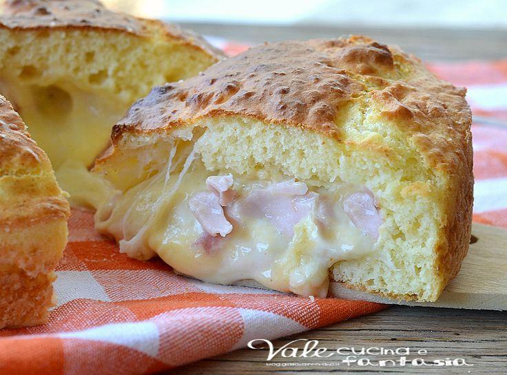 Torta salata allo yogurt con prosciutto e mozzarella