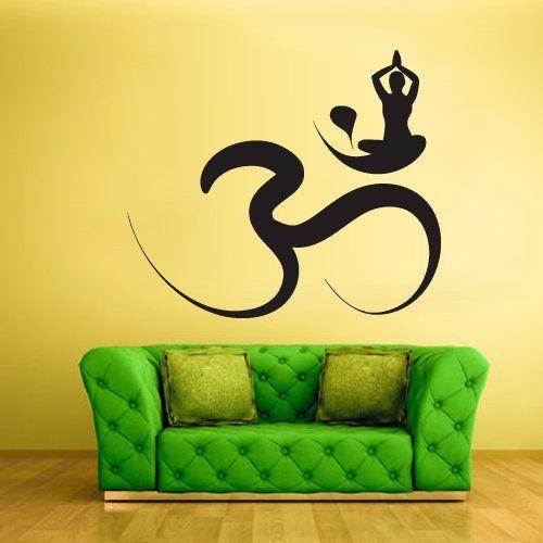 Wall Decal Vinyl Sticker Decals Hindu Om Circle Yoga Symbol Buddha Indian (Z1371) StickersForLife http://www.amazon.com/dp/B00E8WEGL0/ref=cm_sw_r_pi_dp_K.Revb17FYW22