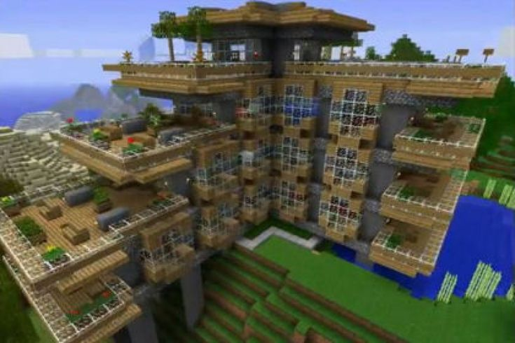 Believe it or not i built this house it took about 4 for Big modern houses on minecraft