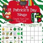 St. Patrick's Day Freebie Bingo Game (Create Your Own Card/Luck) - let your students create their own bingo card.  Don't do it for them!  This St. ...